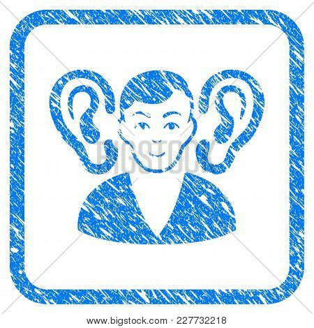Listener Rubber Seal Stamp Watermark. Icon Vector Symbol With Grunge Design And Corrosion Texture In