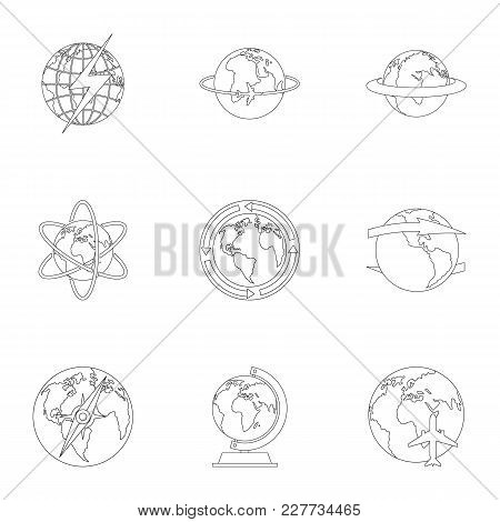 Humankind Icons Set. Outline Set Of 9 Humankind Vector Icons For Web Isolated On White Background