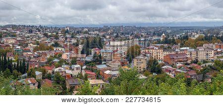 Panoramic View Of Kutaisi City From Bagrati Cathedral, Georgia