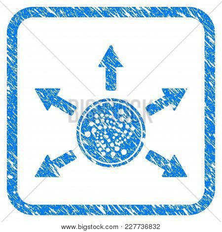 Iota Coin Spend Arrows Rubber Seal Stamp Imitation. Icon Vector Symbol With Grunge Design And Unclea