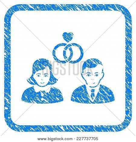 People Marriage Rubber Seal Stamp Watermark. Icon Vector Symbol With Grunge Design And Unclean Textu