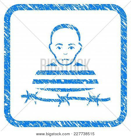 Isolated Prisoner Rubber Seal Stamp Imitation. Icon Vector Symbol With Grunge Design And Dust Textur