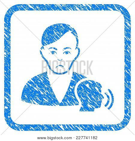 Psychoanalysis Talking Rubber Seal Stamp Watermark. Icon Vector Symbol With Grunge Design And Corros
