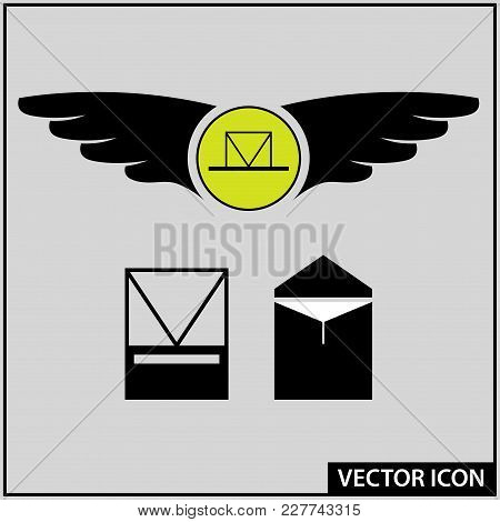 Vector Icons Of Delivery Methods For Important Messages