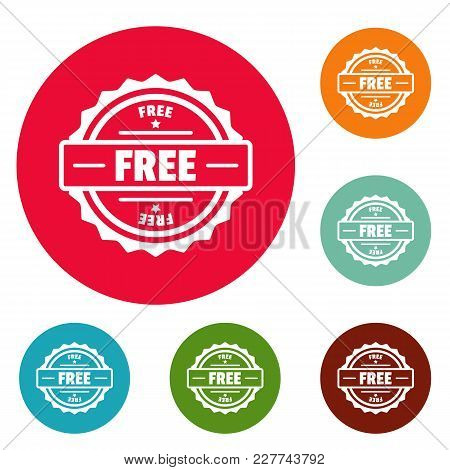Free Logo. Simple Illustration Of Free Vector Logo For Web