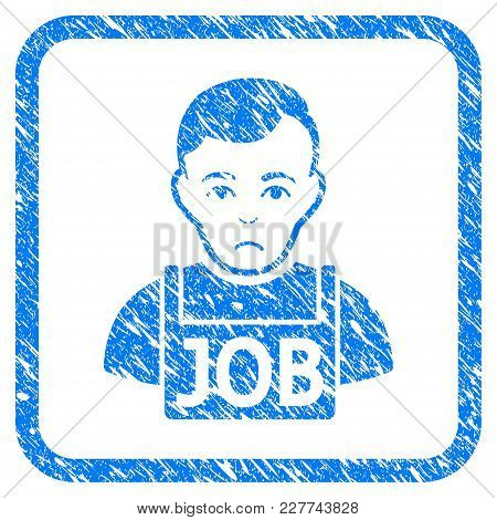 Jobless Rubber Seal Stamp Watermark. Icon Vector Symbol With Grunge Design And Dust Texture In Round