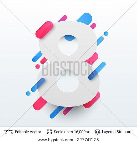 Editable Vector Background. Simple Shapes And Minimalistic Design.
