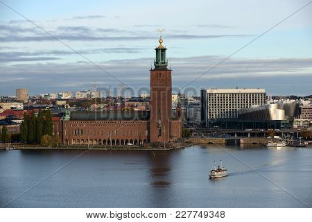 Stockholm City Hall Is The Building Of The Municipal Council.