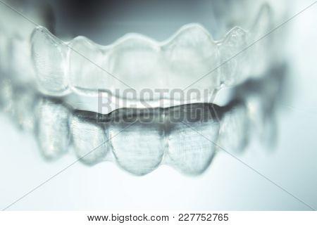 Dental Aligner. Invisible Dental Orthodontics. No People
