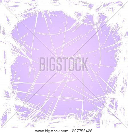 Abstract Watercolor Brushwork Background, Purple And White Winter Background, Square Frame.image For