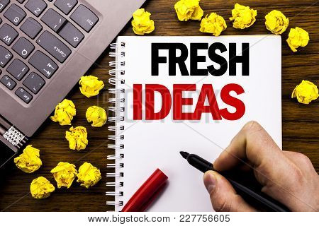 Conceptual Hand Writing Text Caption Fresh Ideas. Business Concept For Thinking Inspiration Inspire