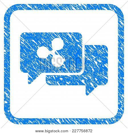 Ripple Chat Rubber Seal Stamp Watermark. Icon Vector Symbol With Grunge Design And Unclean Texture I
