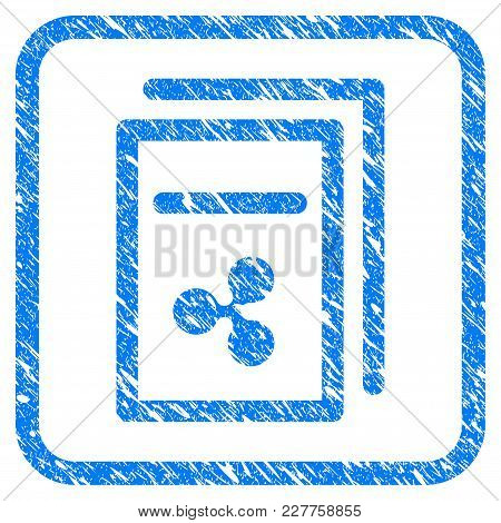 Ripple Invoices Rubber Seal Stamp Watermark. Icon Vector Symbol With Grunge Design And Dirty Texture