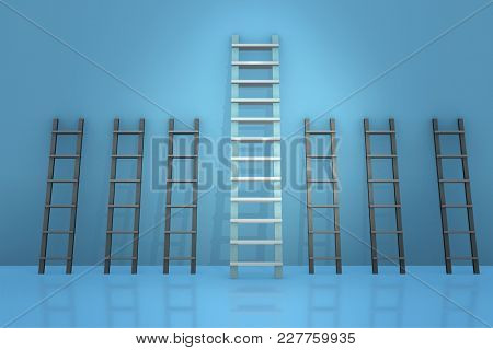 Different ladders in career progression concept
