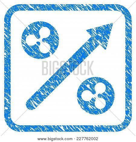 Ripple Grow Up Arrow Rubber Seal Stamp Watermark. Icon Vector Symbol With Grunge Design And Dirty Te