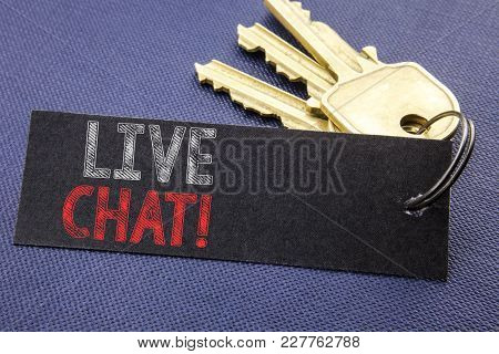 Handwritten Text Showing Live Chat . Business Concept Writing For Communication Livechat Written On