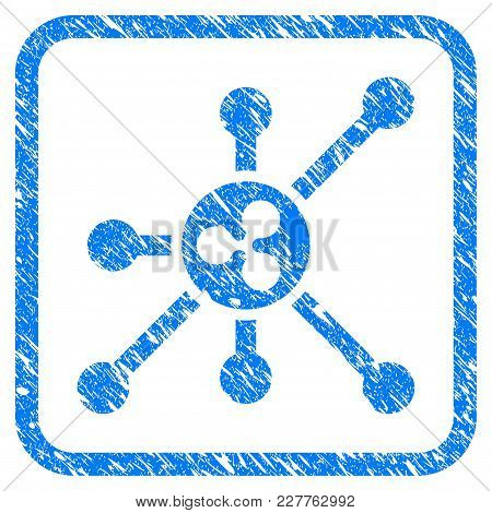 Ripple Node Rubber Seal Stamp Imitation. Icon Vector Symbol With Grunge Design And Corrosion Texture