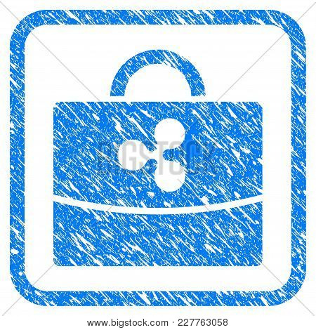 Ripple Accounting Case Rubber Seal Stamp Watermark. Icon Vector Symbol With Grunge Design And Corros