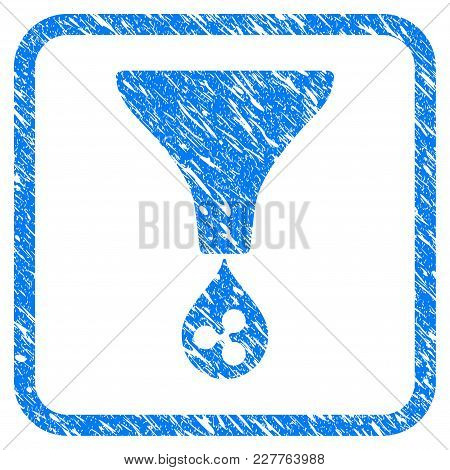 Ripple Funnel Rubber Seal Stamp Watermark. Icon Vector Symbol With Grunge Design And Corrosion Textu
