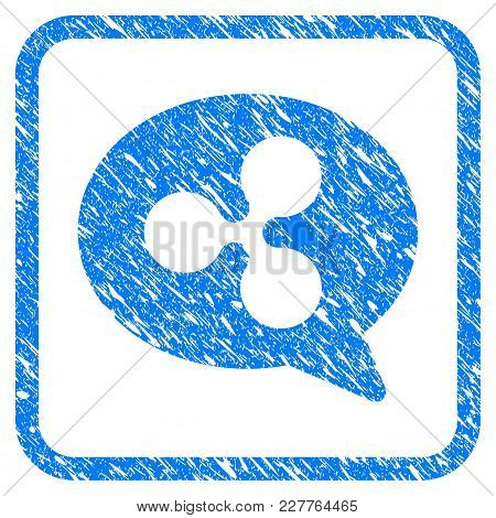 Ripple Message Balloon Rubber Seal Stamp Watermark. Icon Vector Symbol With Grunge Design And Dust T