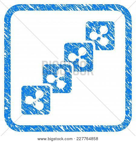 Ripple Block Chain Rubber Seal Stamp Watermark. Icon Vector Symbol With Grunge Design And Dust Textu
