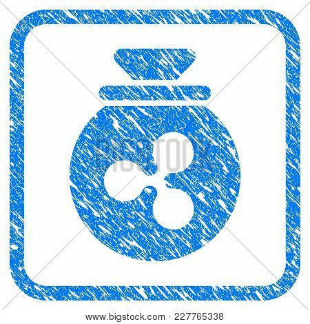 Ripple Harvest Sack Rubber Seal Stamp Watermark. Icon Vector Symbol With Grunge Design And Unclean T