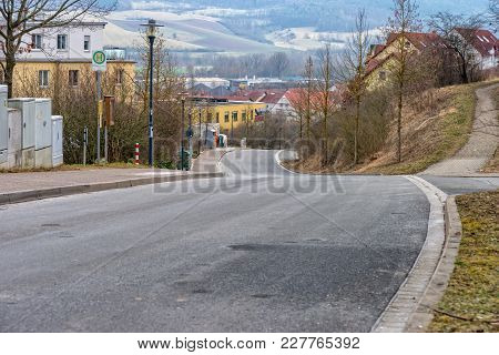 A Road Leading Through A Development Area Of Jena