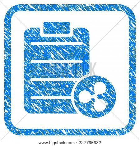 Ripple Price List Rubber Seal Stamp Watermark. Icon Vector Symbol With Grunge Design And Dust Textur
