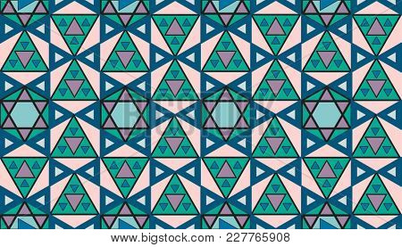 Vintage geometric pattern inspired by The Grammar of Ornament