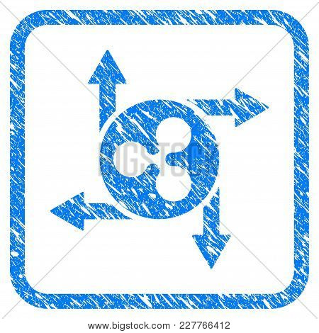 Ripple Cashout Arrows Rubber Seal Stamp Watermark. Icon Vector Symbol With Grunge Design And Corrosi