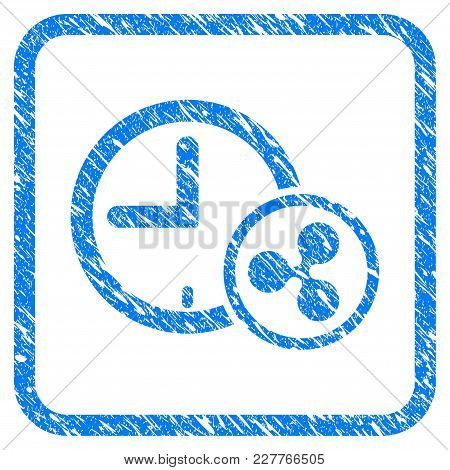 Ripple Credit Clock Rubber Seal Stamp Watermark. Icon Vector Symbol With Grunge Design And Dirty Tex