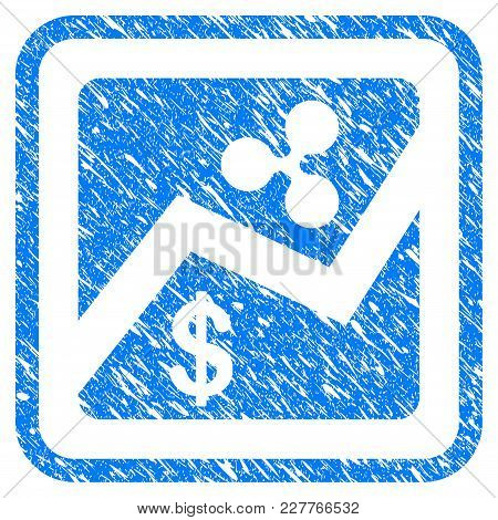 Ripple Dollar Exchange Market Rubber Seal Stamp Watermark. Icon Vector Symbol With Grunge Design And