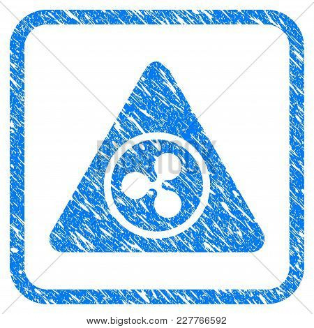 Ripple Hazard Rubber Seal Stamp Watermark. Icon Vector Symbol With Grunge Design And Unclean Texture