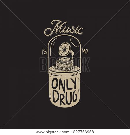 Music is My Only Drug Graphic Concept
