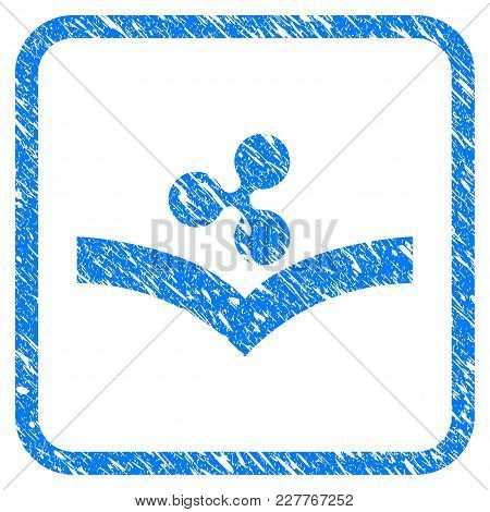 Ripple Knowledge Rubber Seal Stamp Watermark. Icon Vector Symbol With Grunge Design And Unclean Text