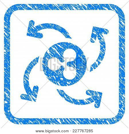 Ripple Cashout Twirl Rubber Seal Stamp Imitation. Icon Vector Symbol With Grunge Design And Corrosio
