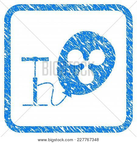Pump Ripple Balloon Rubber Seal Stamp Watermark. Icon Vector Symbol With Grunge Design And Dust Text