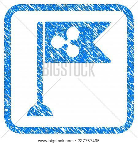 Ripple Flag Marker Rubber Seal Stamp Watermark. Icon Vector Symbol With Grunge Design And Unclean Te