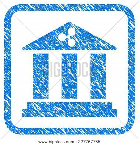 Ripple Bank Rubber Seal Stamp Watermark. Icon Vector Symbol With Grunge Design And Corrosion Texture