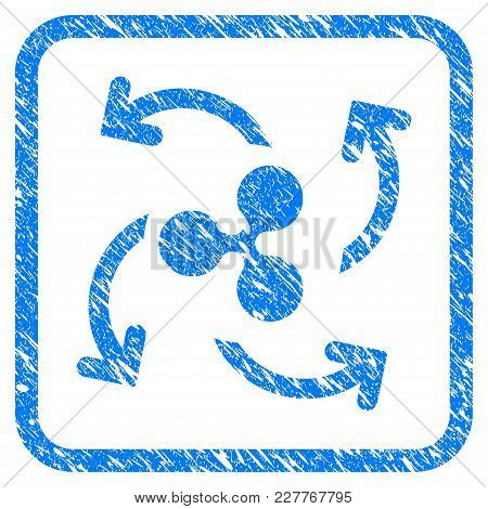Ripple Cashout Swirl Rubber Seal Stamp Imitation. Icon Vector Symbol With Grunge Design And Corrosio