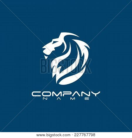 Best Lion Head Logo Vector - Lion Vector Concept Illustration. Lion Head Logo. Wild Lion Head Graphi