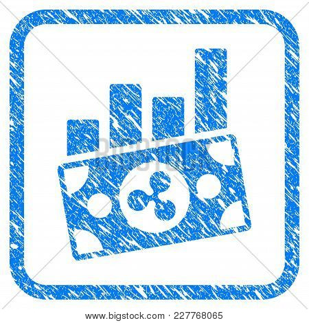 Ripple Banknote Charts Rubber Seal Stamp Watermark. Icon Vector Symbol With Grunge Design And Unclea