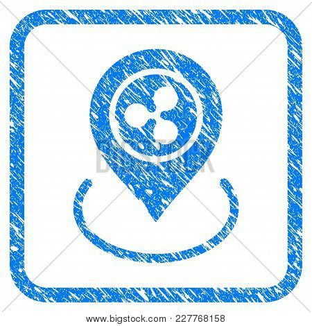 Ripple Location Rubber Seal Stamp Watermark. Icon Vector Symbol With Grunge Design And Unclean Textu