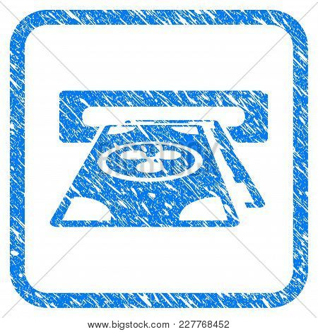 Ripple Cashout Atm Rubber Seal Stamp Imitation. Icon Vector Symbol With Grunge Design And Corrosion