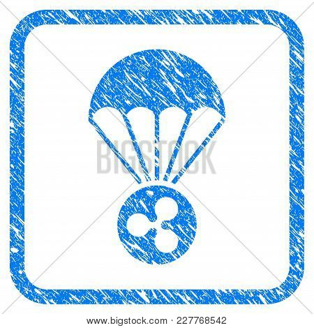 Ripple Parachute Rubber Seal Stamp Watermark. Icon Vector Symbol With Grunge Design And Dust Texture