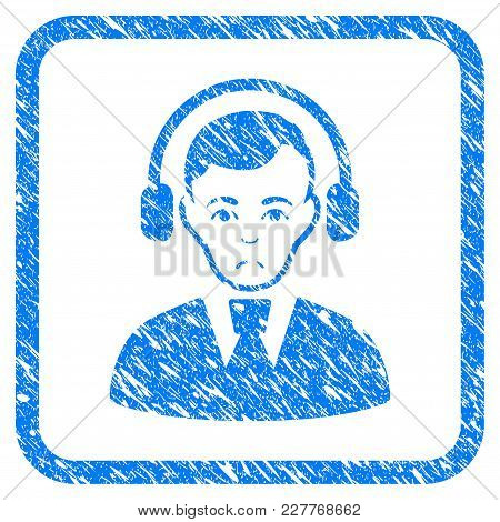 Radio Operator Rubber Seal Stamp Watermark. Icon Vector Symbol With Grunge Design And Dust Texture I