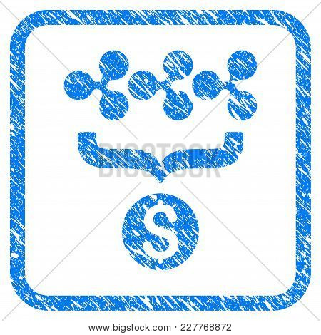 Ripple Dollar Conversion Funnel Rubber Seal Stamp Watermark. Icon Vector Symbol With Grunge Design A
