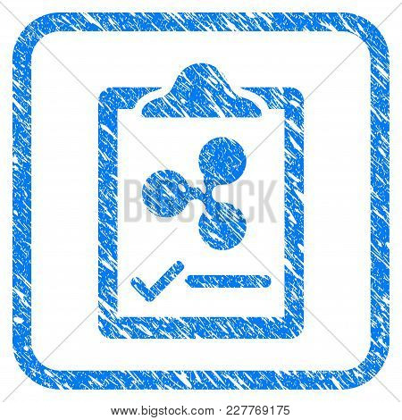 Ripple Contract Pad Rubber Seal Stamp Watermark. Icon Vector Symbol With Grunge Design And Corrosion
