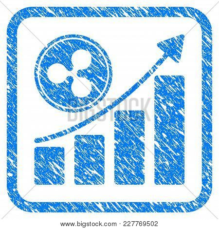 Ripple Growing Chart Rubber Seal Stamp Watermark. Icon Vector Symbol With Grunge Design And Corrosio