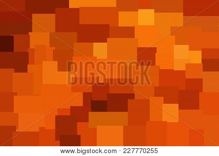 Orange Abstract Polygonal Background Made Of Rectangles